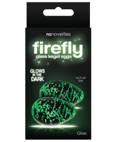 Firefly Clear Glass Kegel Eggs - Glow