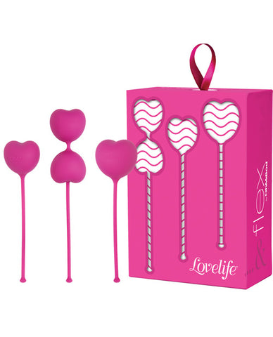 Ohmibod Lovelife Flex Kegels - Pink Set Of 3