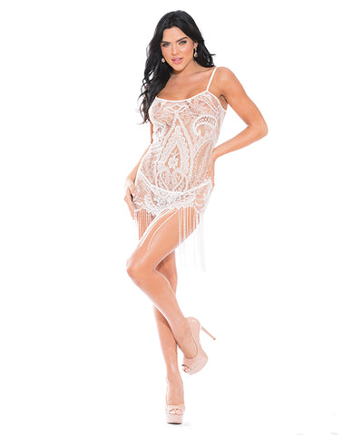Lace Chemise W/g-string White