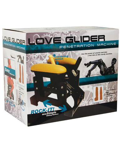 Lovebotz Love Glider Penetration Machine - Black & Yellow