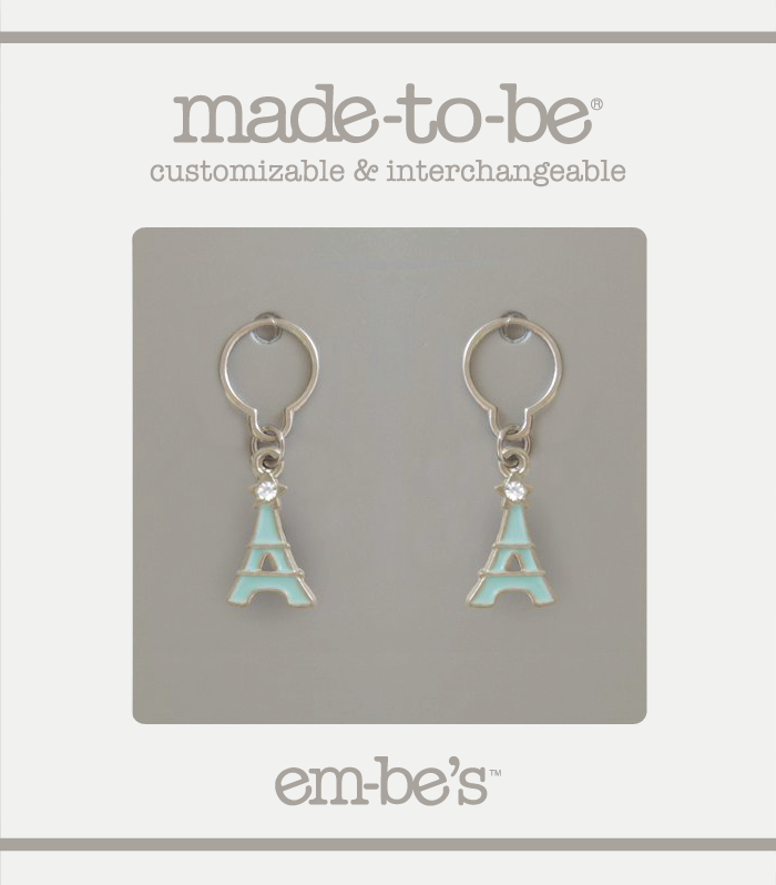 2 Charm Set - Eiffel Tower