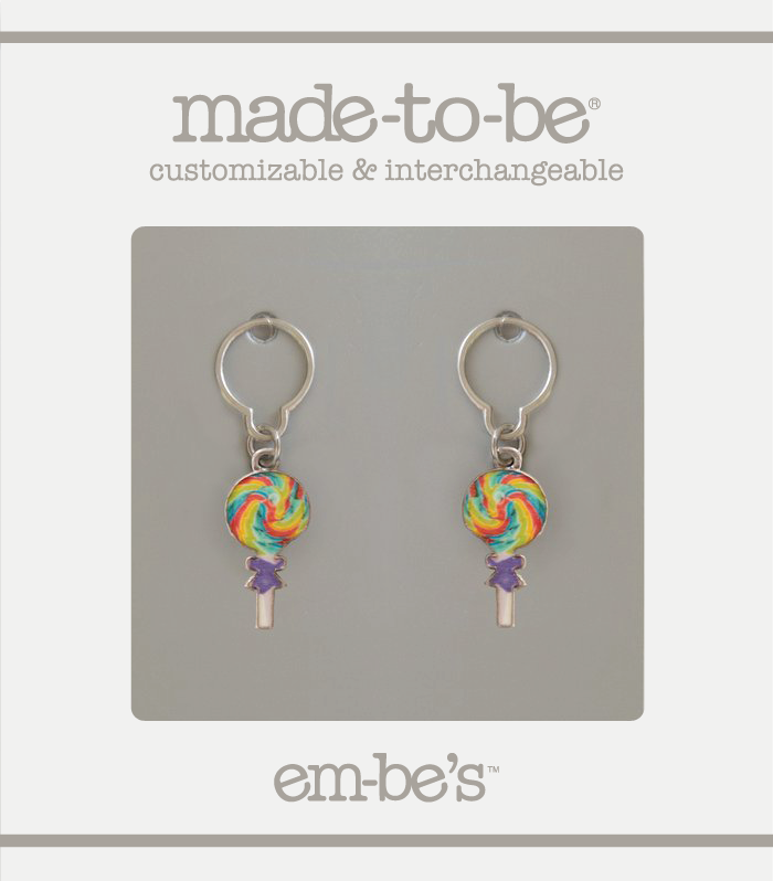 2 Charm Set - Rainbow Lollipop