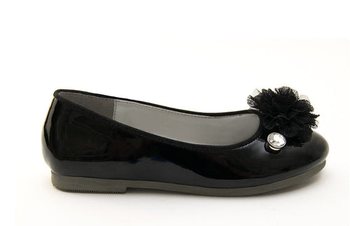 Cassidy Flat - Shiny Black