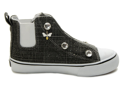 Customizable Charcoal High Top Sneaker