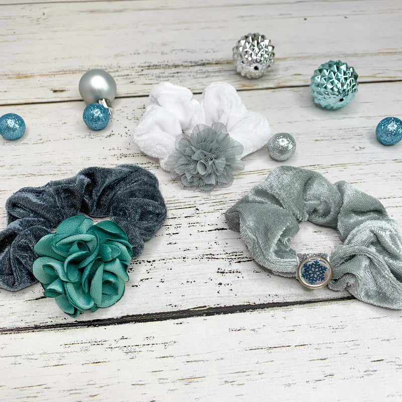 Scrunchies - Holiday Blue (Set of 3)