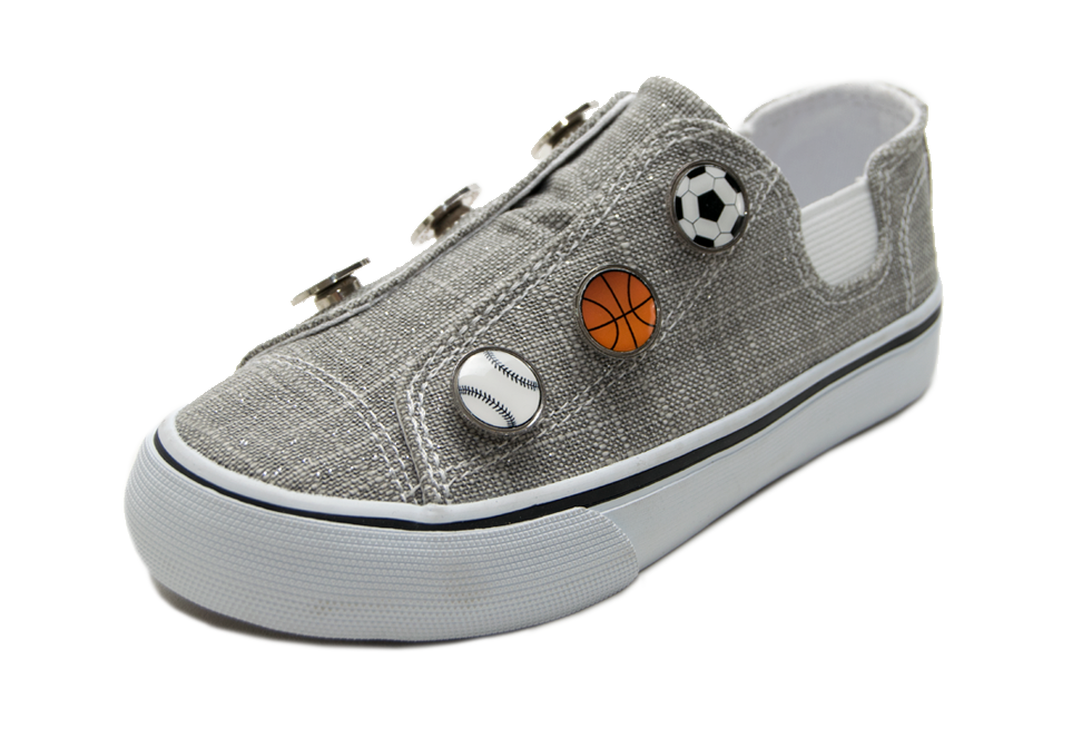 Dash • Gray Sparkle w/sports