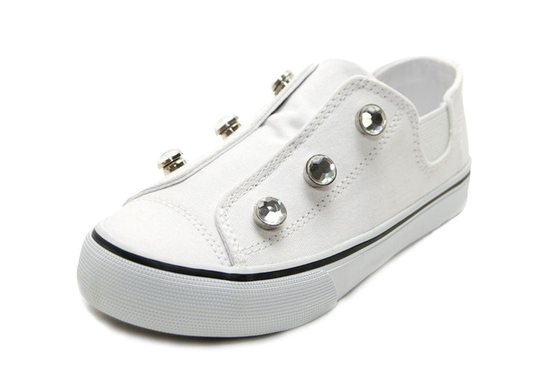 Dash-White w/clear rhinestones & white bee charms