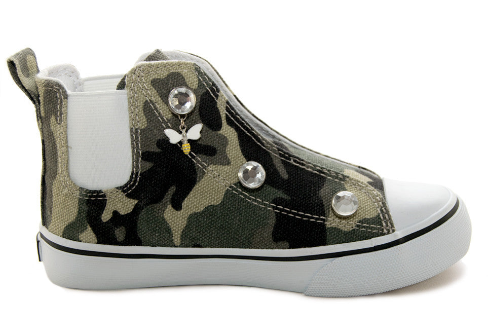 Customizable Camouflage High Top Sneaker