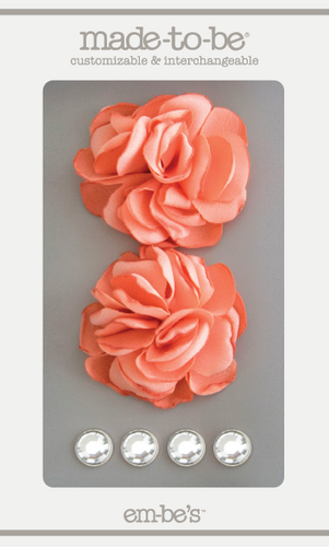 Satin Rosette Set - Dusty Coral