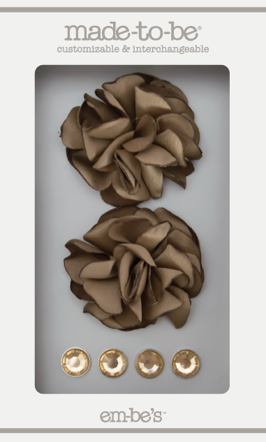 Satin Rosette Set - Dusty Gold
