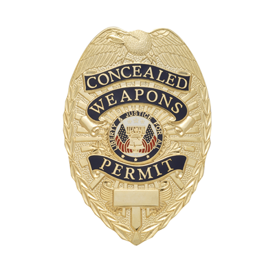 Concealed Weapons Permit Badge