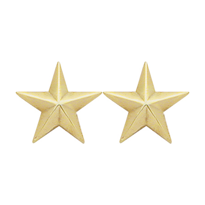 2 Star Collar Brass
