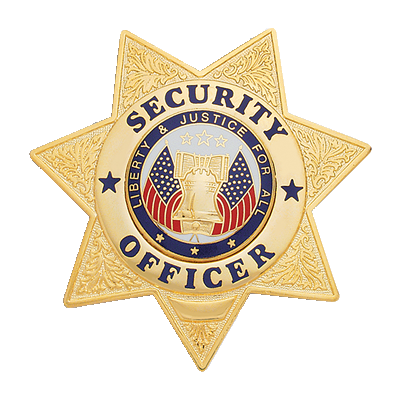 Security Officer Badge, 7 Point Star
