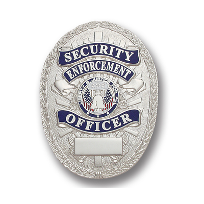 Security Enforcement Officer Badge, Oval