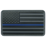 US Flag Morale Patch - Thin Line
