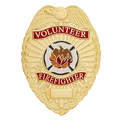 Volunteer Firefighter Badge, Shield
