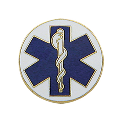 Star of Life Disc Collar Pin