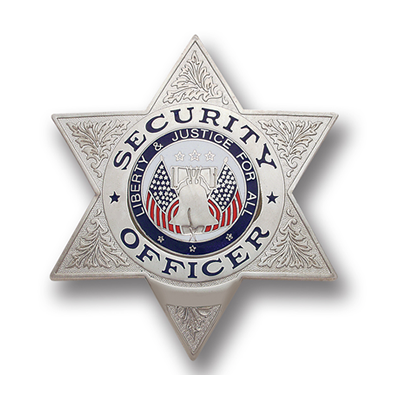 Security Officer Badge, 6 Point Star