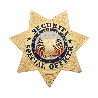 Security Special Officer Badge, 7 Point Star