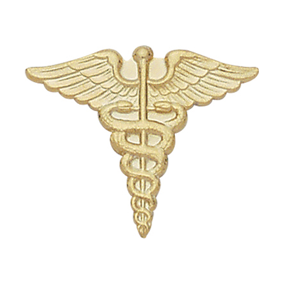Caduceus Collar Pin
