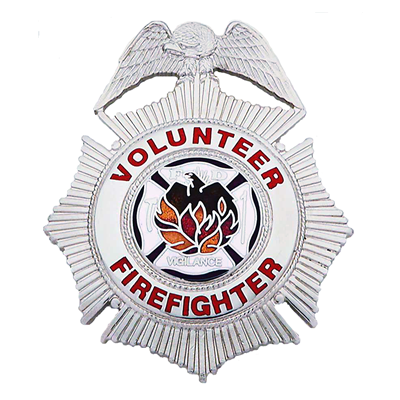 Volunteer Firefighter Badge, Maltese