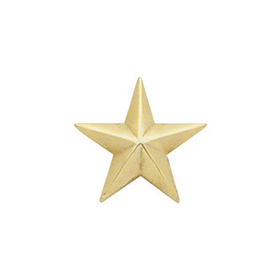 1 Star Collar Brass