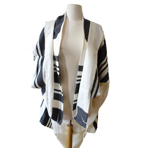 Black Stripes Traditional Woven Tallit Gadol