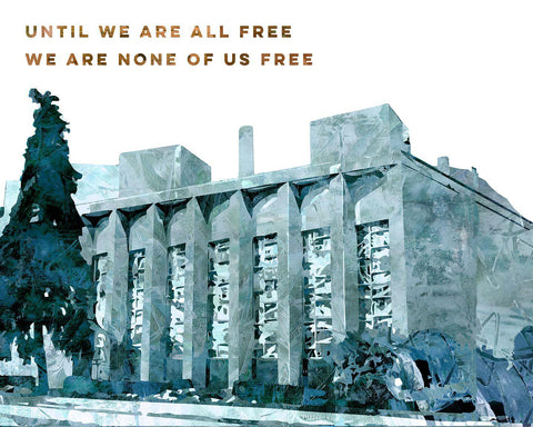 Until We Are All Free We Are None of Us Free - Tree of Life Memorial Art Print