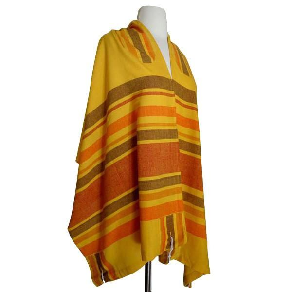 yellow handwoven tallit