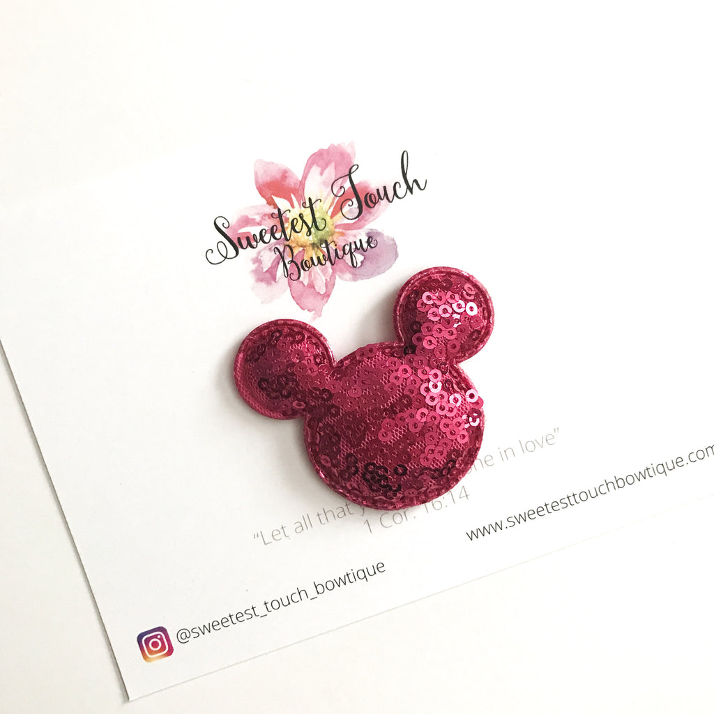 Pink Mickey Mouse Appliqué