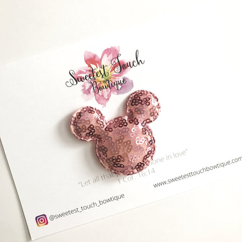 Light Pink Mickey Mouse Appliqué
