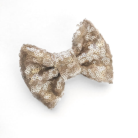 Champagne Sequins Bow