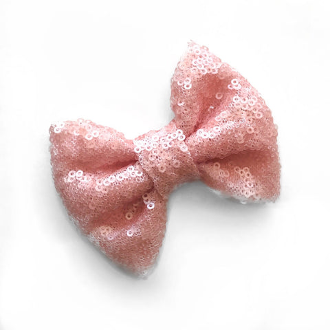 Pretty Pink Sequins Bow
