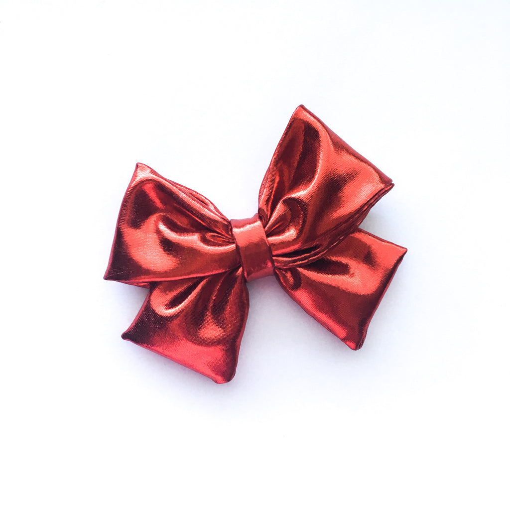 Metallic Red Bow