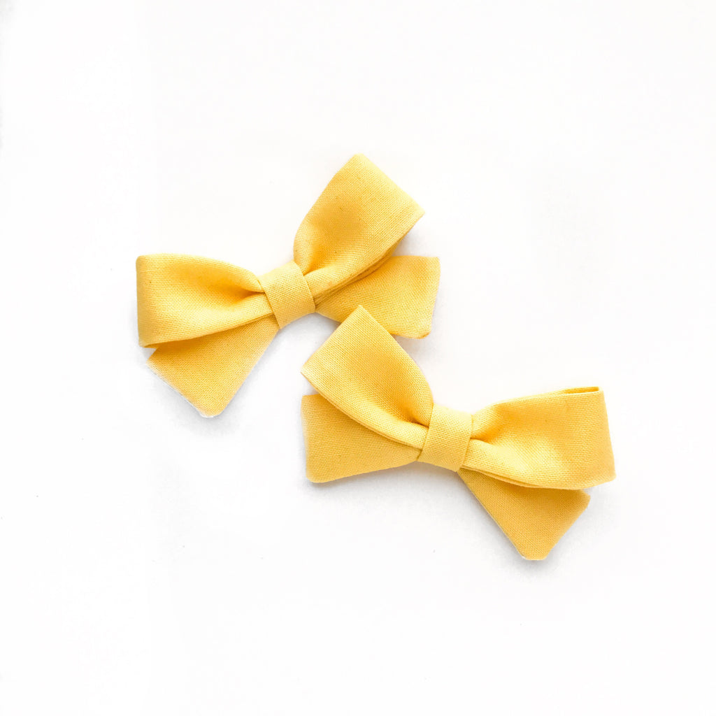 Yellow Piggy Bows