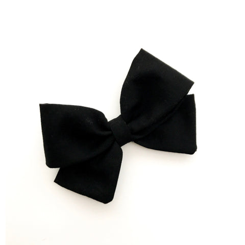 "Black ""Ellie"" Bow"