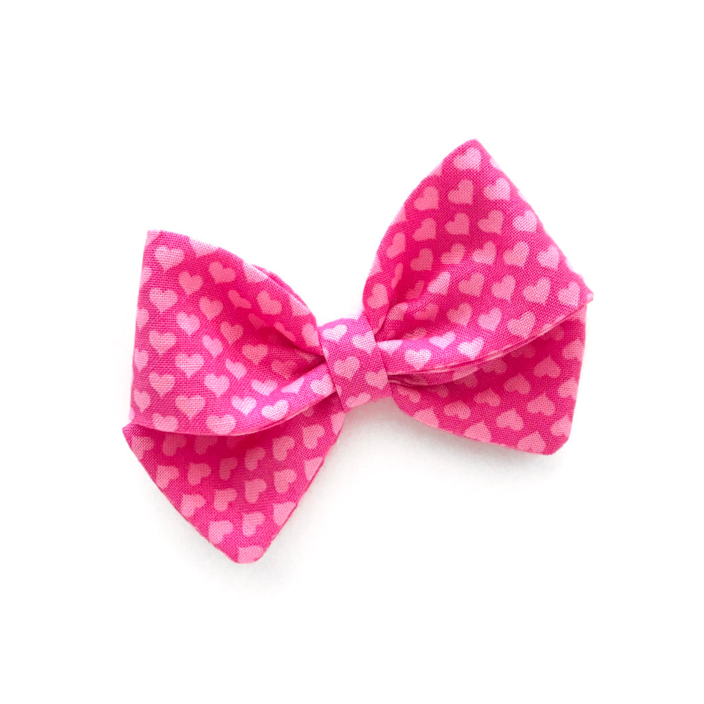 "Pink Hearts ""Ellie"" Bow"