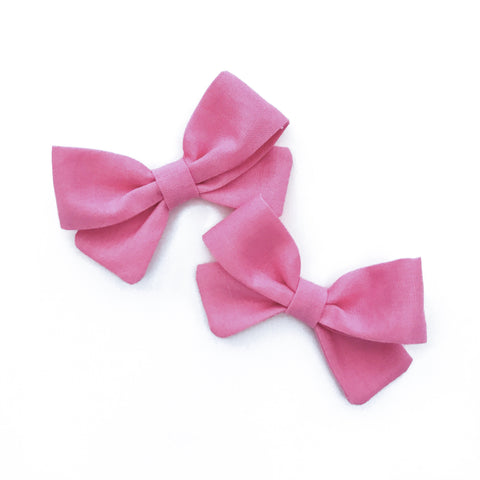 Bubble Gum Pink Piggy Bows