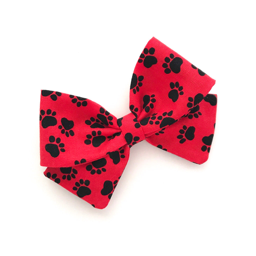 "Paw Prints ""Ellie""Bow"