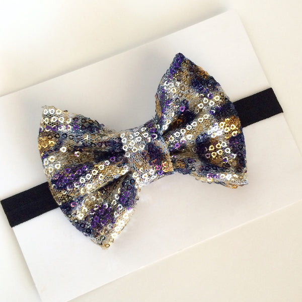 Sparkle Cheetah Bow