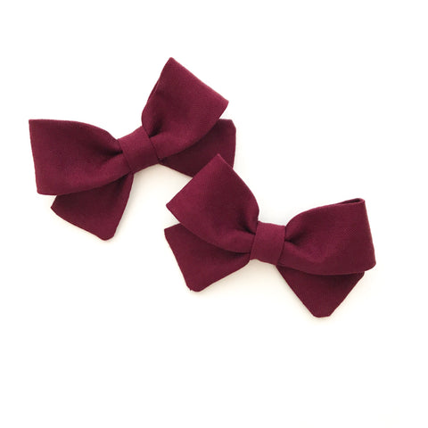 Burgundy Piggy Bows