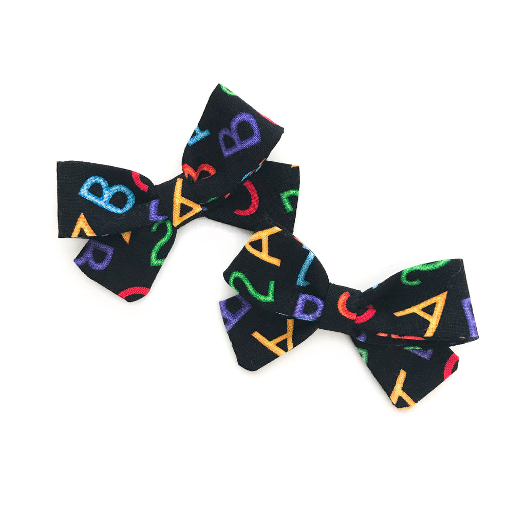 ABC 123 Piggy Bows