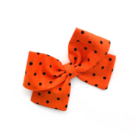 "Black Polka Dots ""Ellie"" Bow"