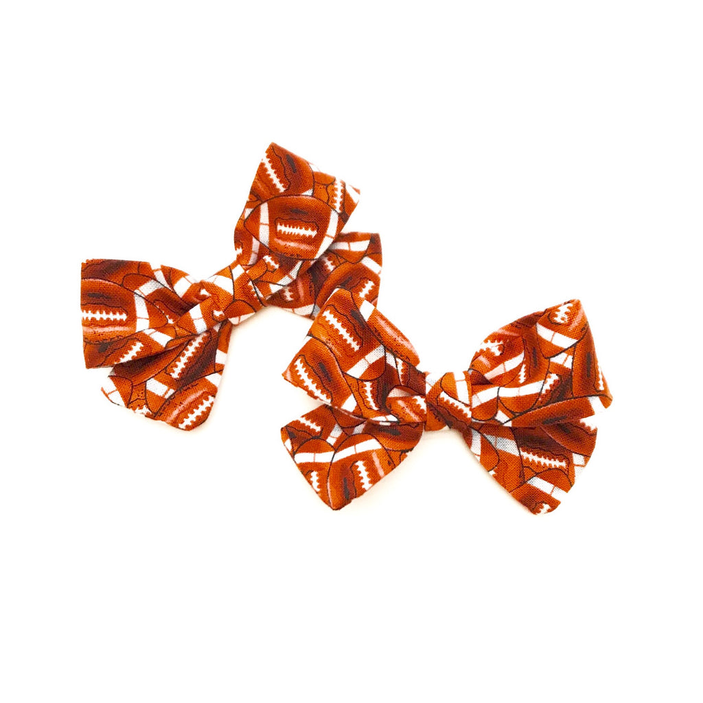 Football Piggy Bows