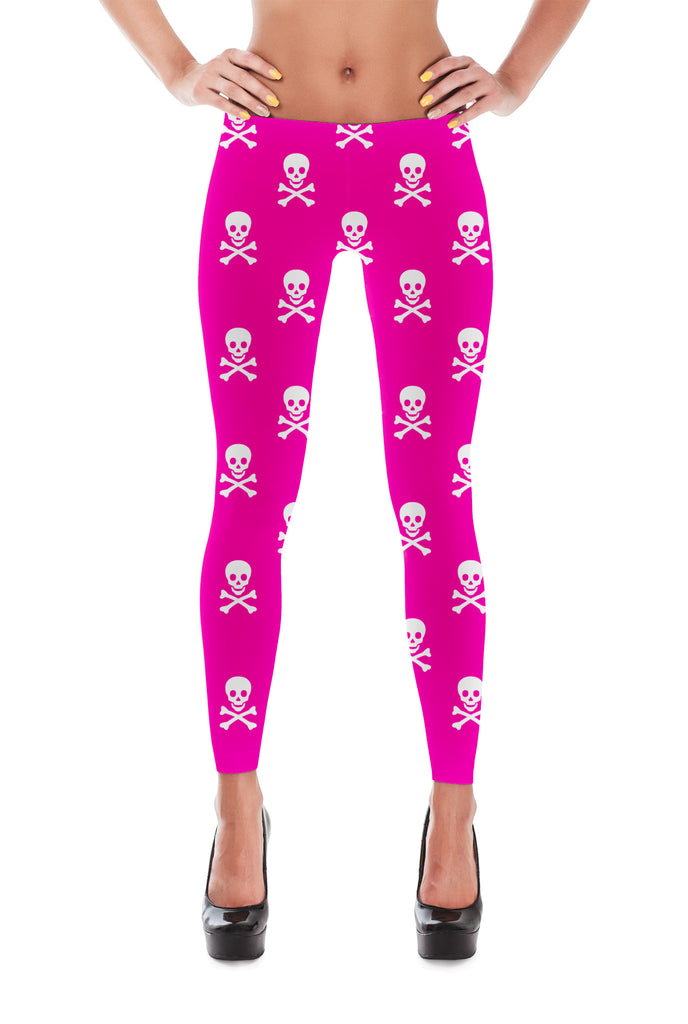 Pink Skull - Leggings