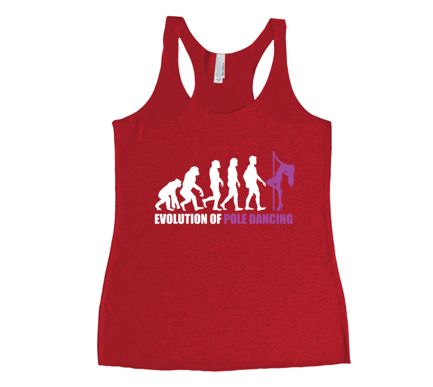 Evolution of Pole Dancing - Womens Tank