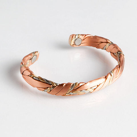 Magnetic Bracelet, Sergio magnetic cuff bracelet, magnetic bangle bracelet copper sage brushed 568