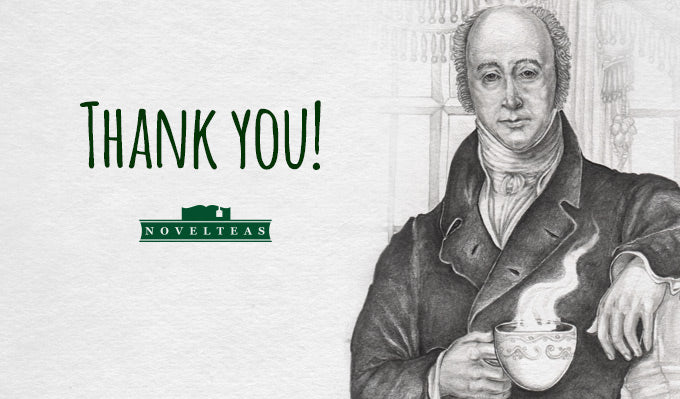 Kickstarter Thank you from Novelteas