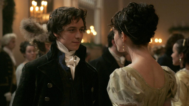 Jane Austen and Tom Lefroy in Becoming Jane