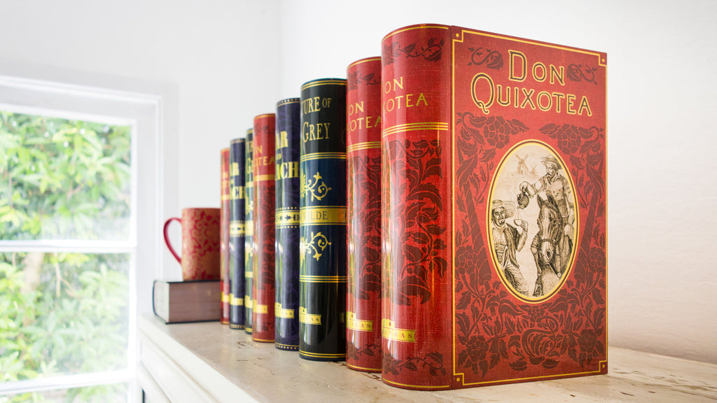 NovelTea Tins - Literary Gift Containers shaped like books